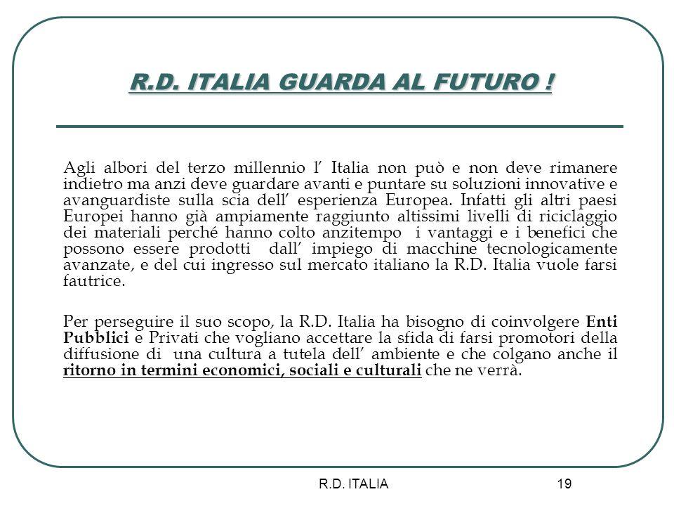 R.D. ITALIA GUARDA AL FUTURO !