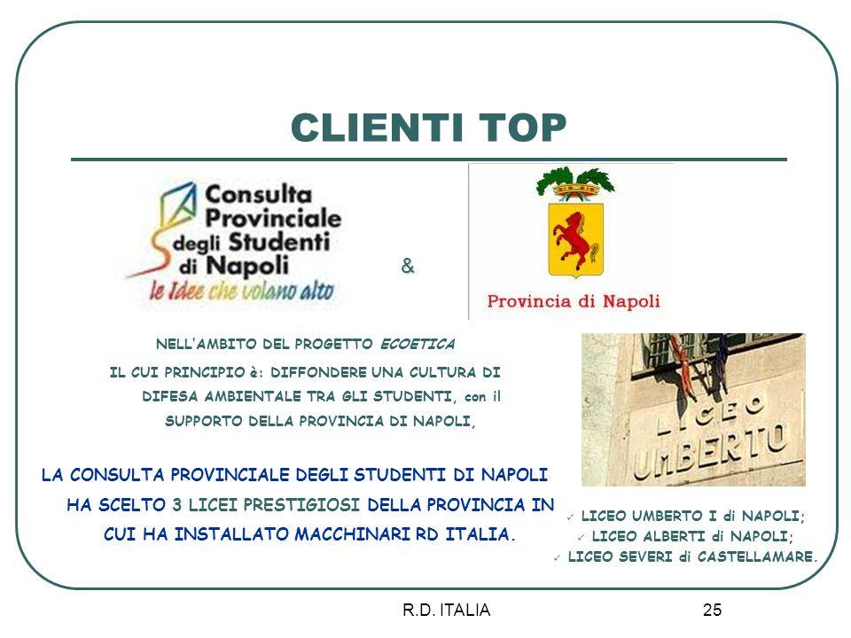 CLIENTI TOP & NELL'AMBITO DEL PROGETTO ECOETICA.