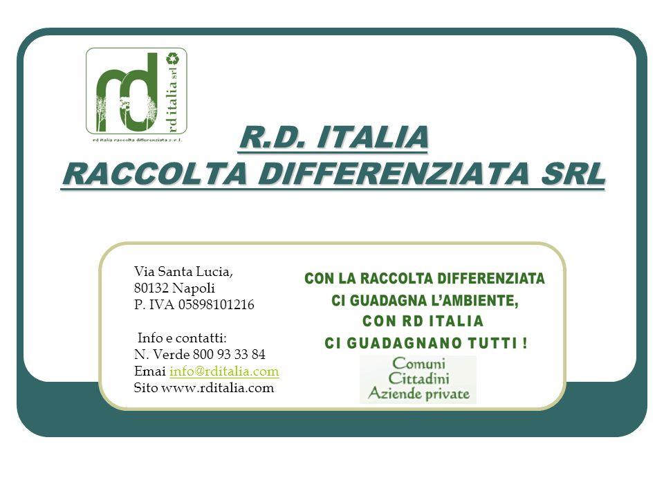 R.D. ITALIA RACCOLTA DIFFERENZIATA SRL