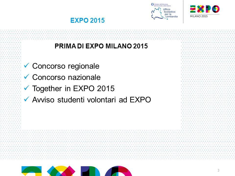 Avviso studenti volontari ad EXPO
