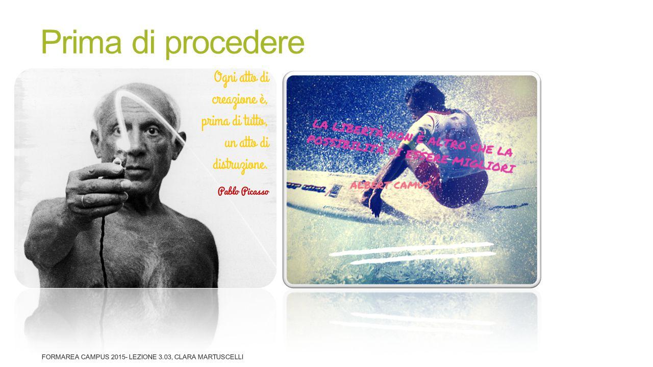Prima di procedere FormArea Campus 2015- Lezione 3.03, Clara Martuscelli