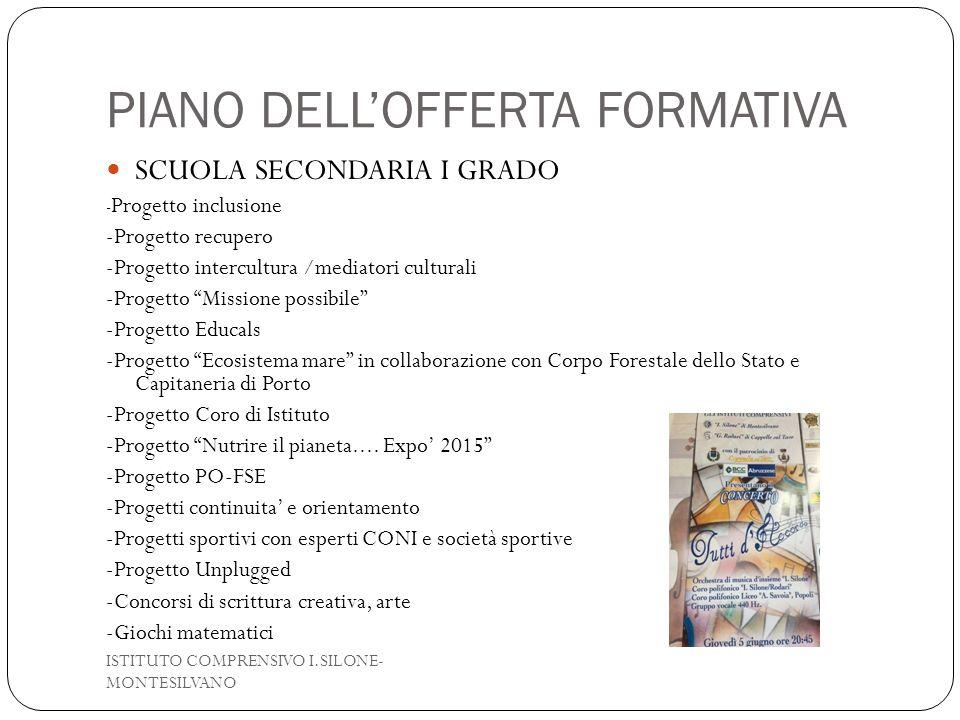 PIANO DELL'OFFERTA FORMATIVA
