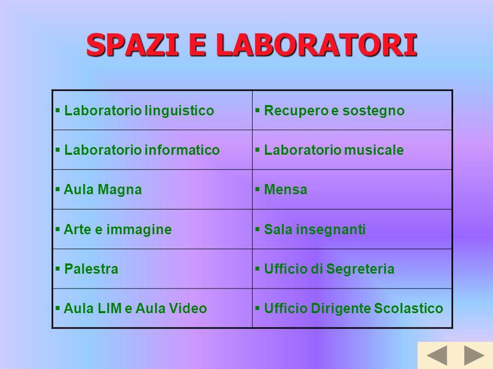SPAZI E LABORATORI Laboratorio linguistico Recupero e sostegno
