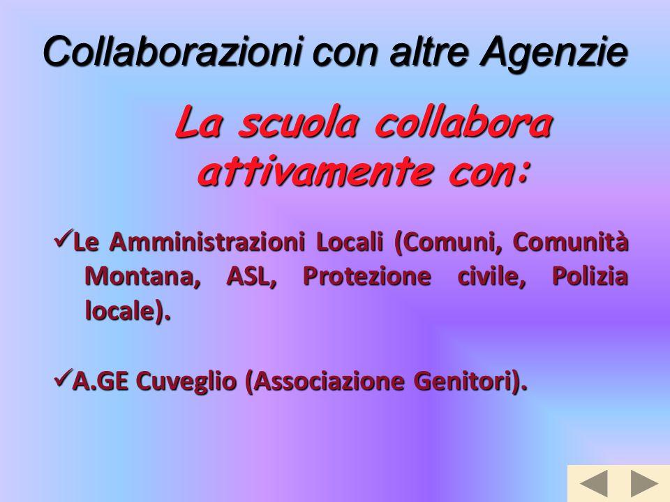 Collaborazioni con altre Agenzie