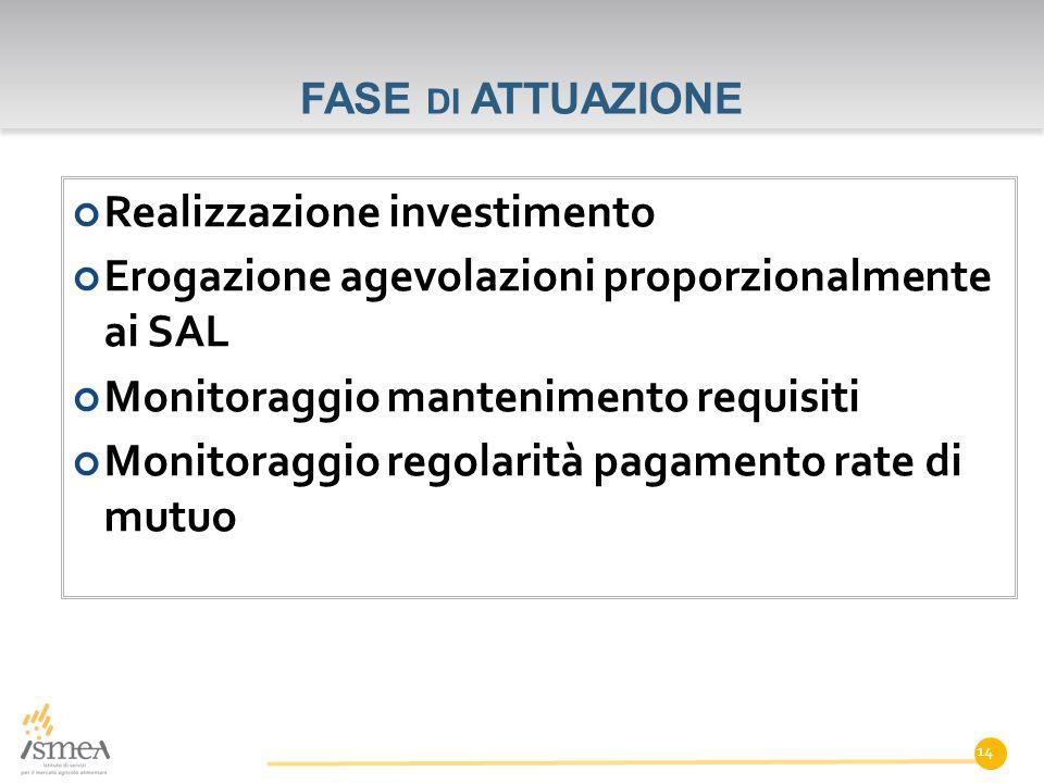 Realizzazione investimento