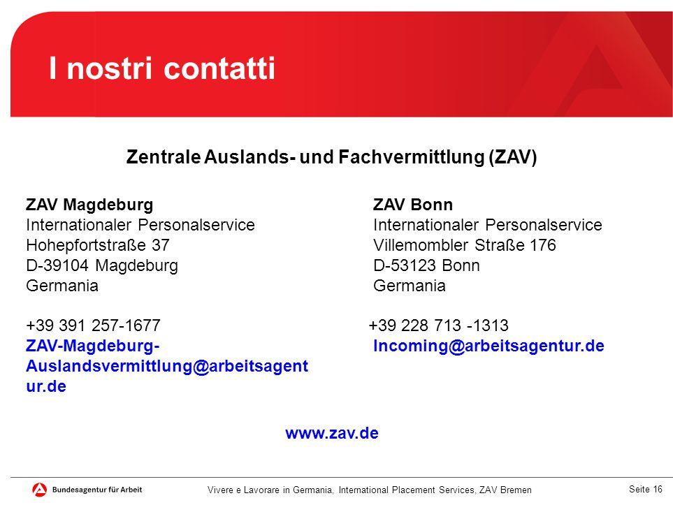 Zentrale Auslands- und Fachvermittlung (ZAV)