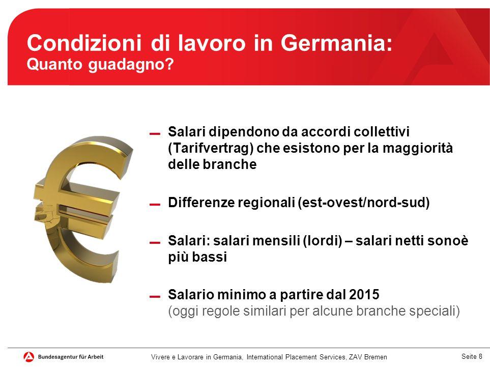 Condizioni di lavoro in Germania: Quanto guadagno