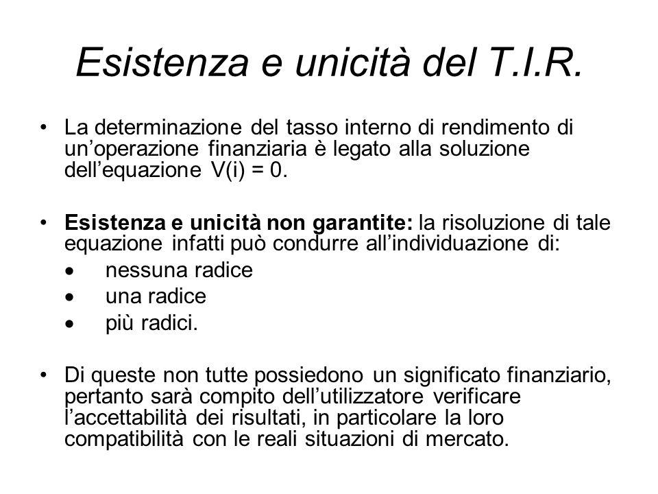 Esistenza e unicità del T.I.R.