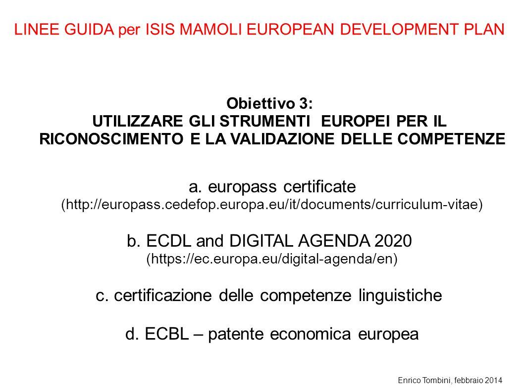 a. europass certificate