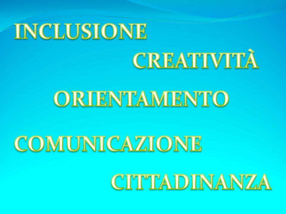 INCLUSIONE CREATIVITÀ ORIENTAMENTO COMUNICAZIONE CITTADINANZA