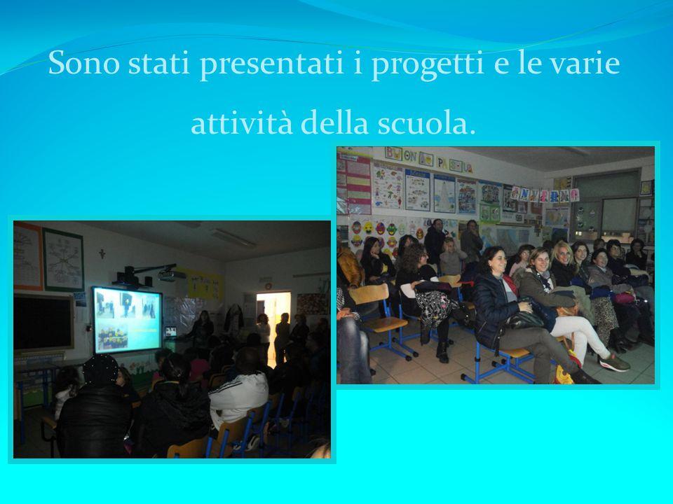 Sono stati presentati i progetti e le varie attività della scuola.