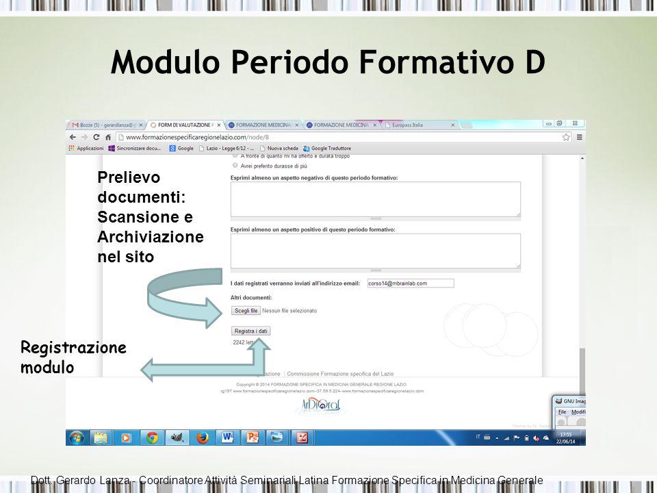 Modulo Periodo Formativo D