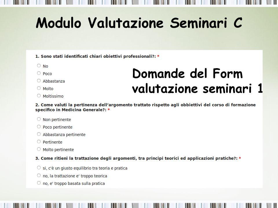 Modulo Valutazione Seminari C
