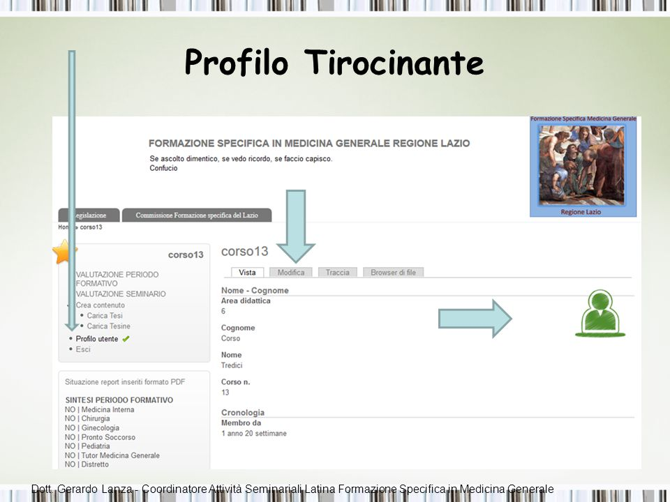 Profilo Tirocinante 5-6 Servizi disponibili per i Tirocinanti: