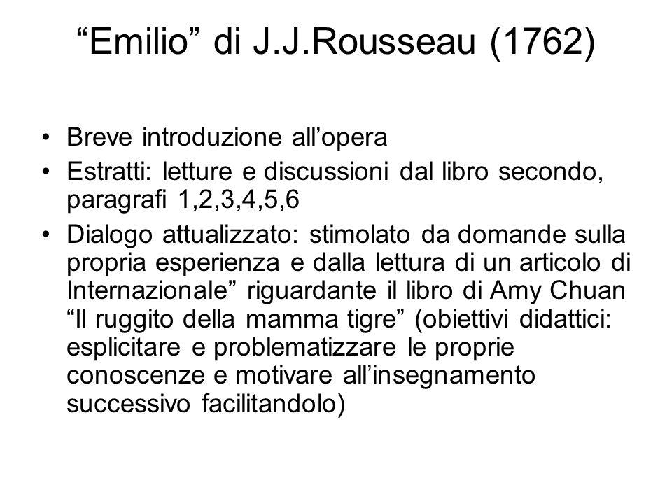 Emilio di J.J.Rousseau (1762)