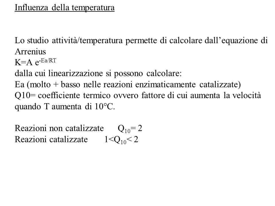 Influenza della temperatura