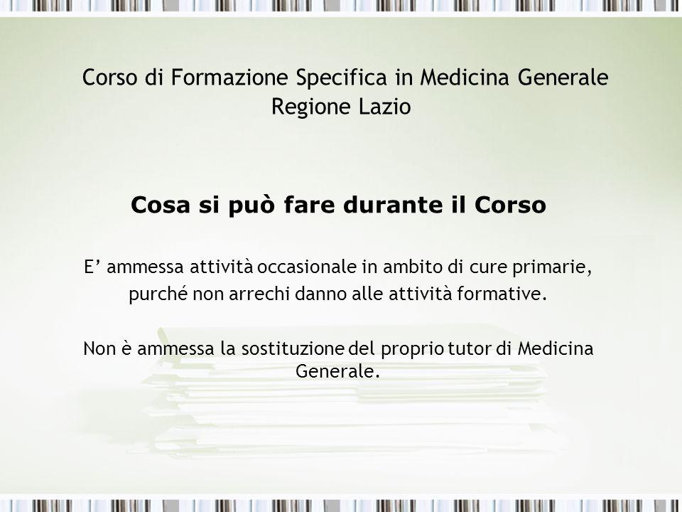 Corso di Formazione Specifica in Medicina Generale Regione Lazio