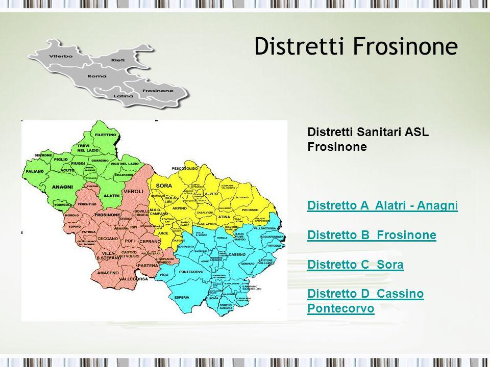 Distretti Frosinone Distretti Sanitari ASL Frosinone