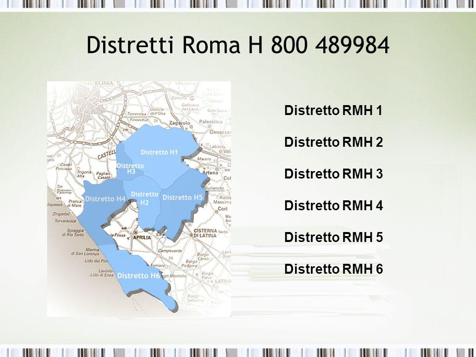 Distretti Roma H 800 489984 Distretto RMH 1 Distretto RMH 2
