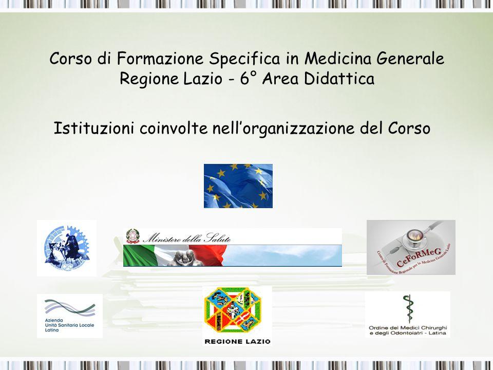 Corso di Formazione Specifica in Medicina Generale Regione Lazio - 6° Area Didattica
