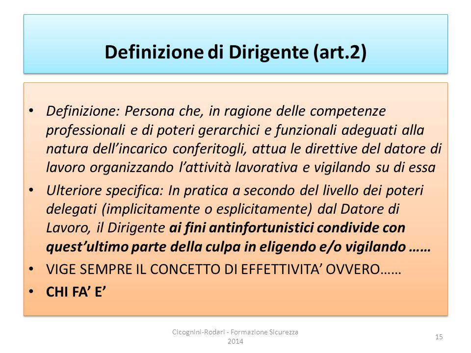 Definizione di Dirigente (art.2)