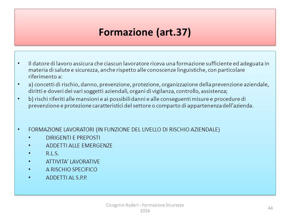 Cicognini-Rodari - Formazione Sicurezza 2014