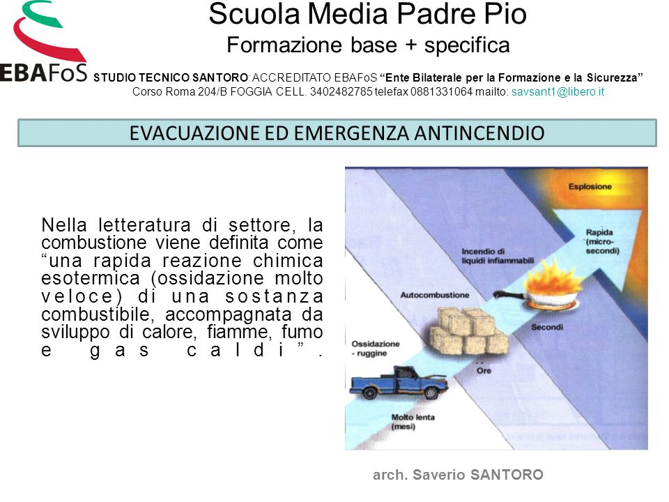 EVACUAZIONE ED EMERGENZA ANTINCENDIO