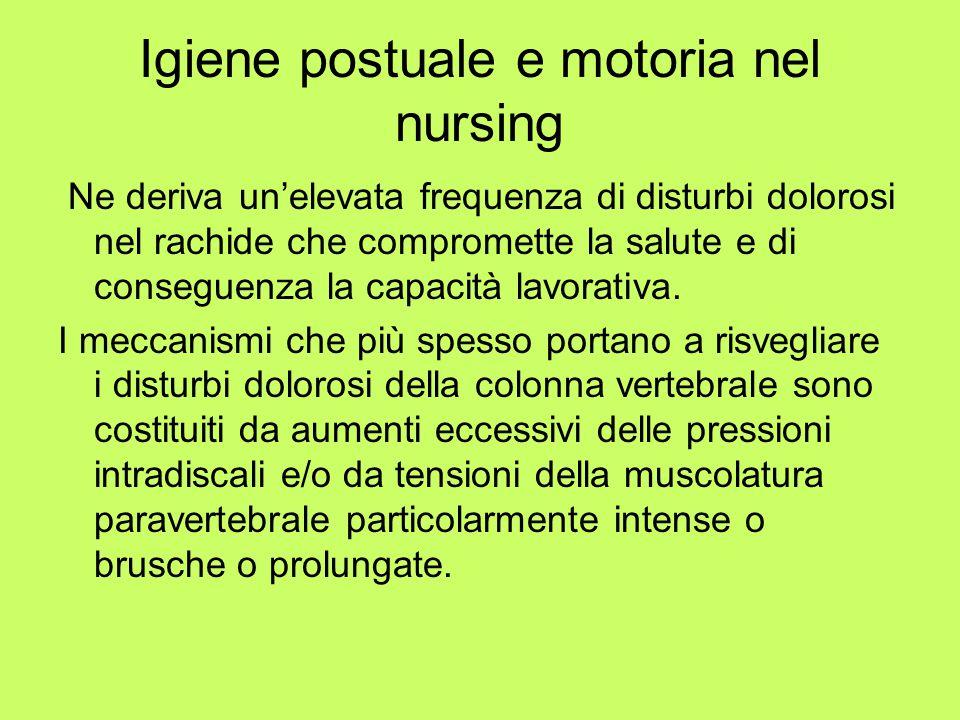 Igiene postuale e motoria nel nursing