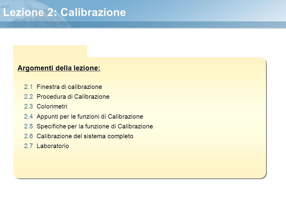 Lezione 2: Calibrazione