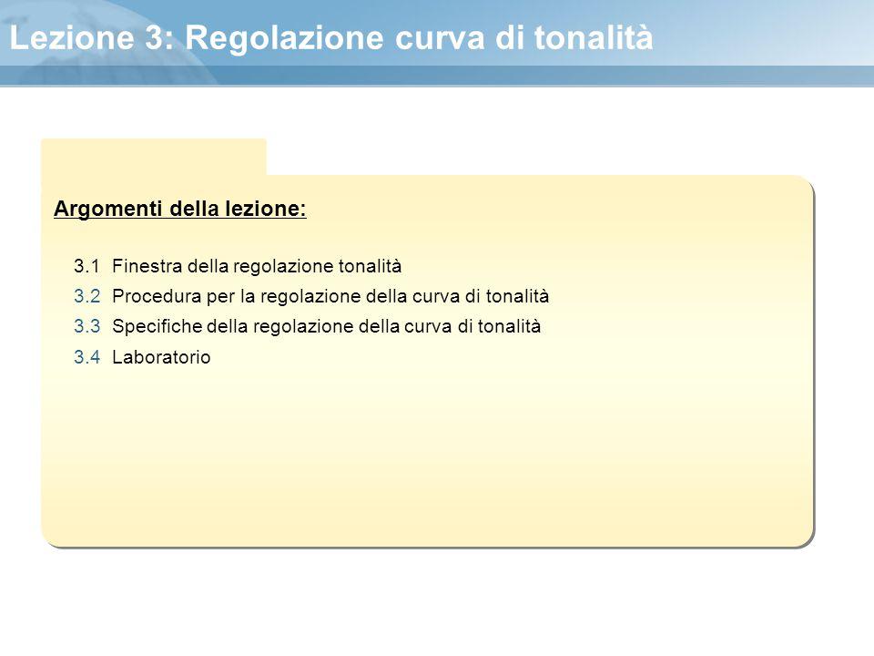 Lezione 3: Regolazione curva di tonalità