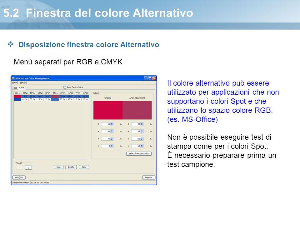 5.2 Finestra del colore Alternativo