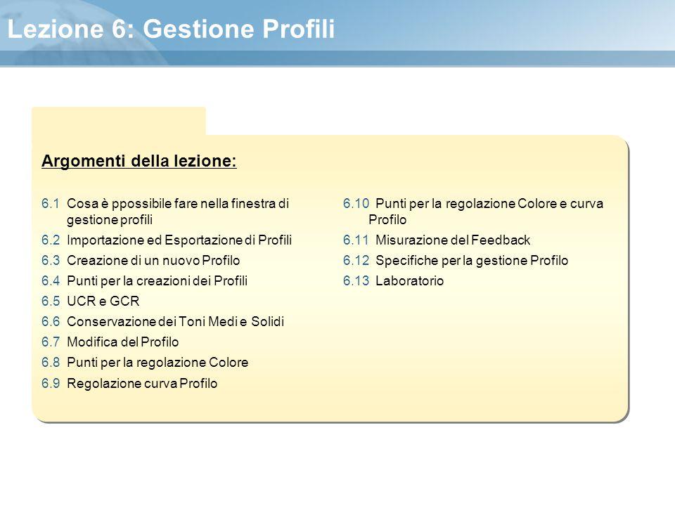 Lezione 6: Gestione Profili