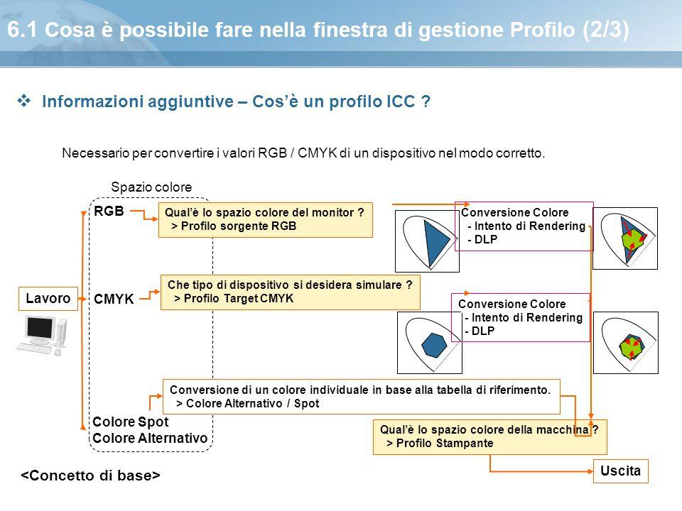 6.1 Cosa è possibile fare nella finestra di gestione Profilo (2/3)