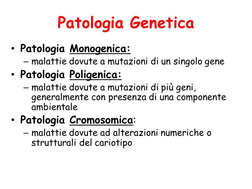 Patologia Genetica Patologia Monogenica: Patologia Poligenica: