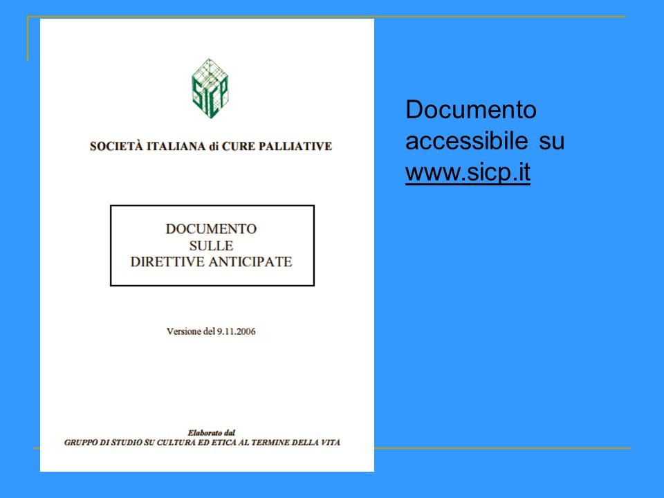 Documento accessibile su www.sicp.it