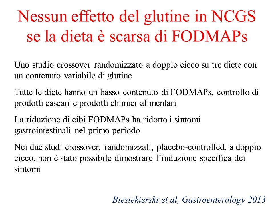 Nessun effetto del glutine in NCGS se la dieta è scarsa di FODMAPs