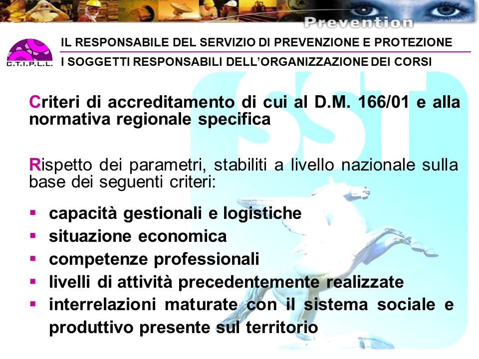 capacità gestionali e logistiche situazione economica