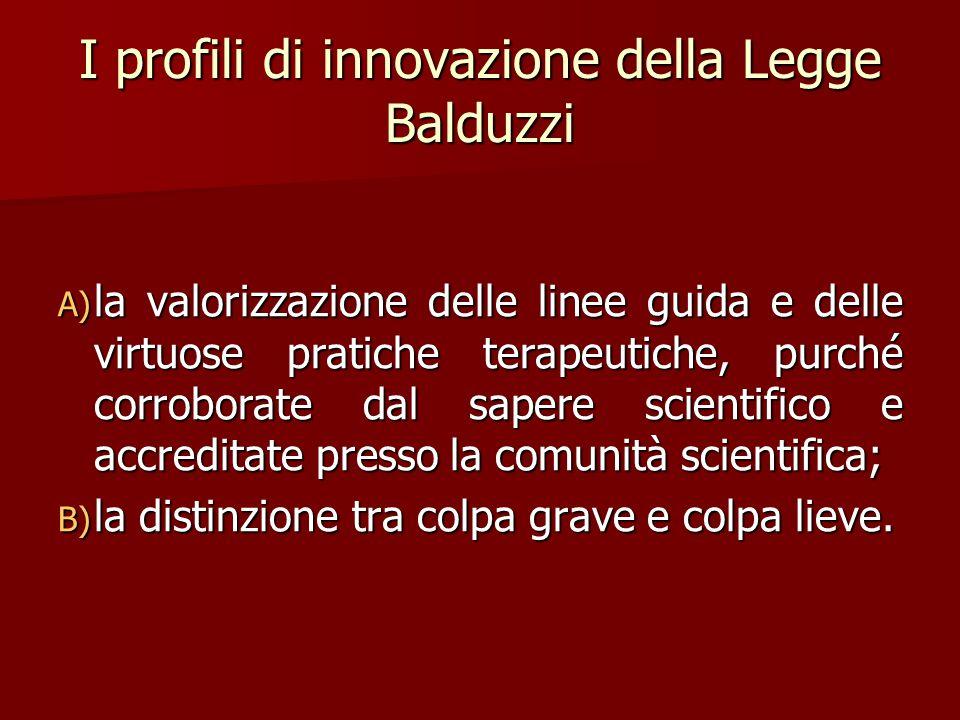 I profili di innovazione della Legge Balduzzi