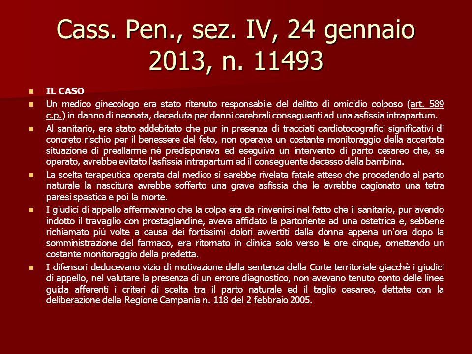 Cass. Pen., sez. IV, 24 gennaio 2013, n. 11493