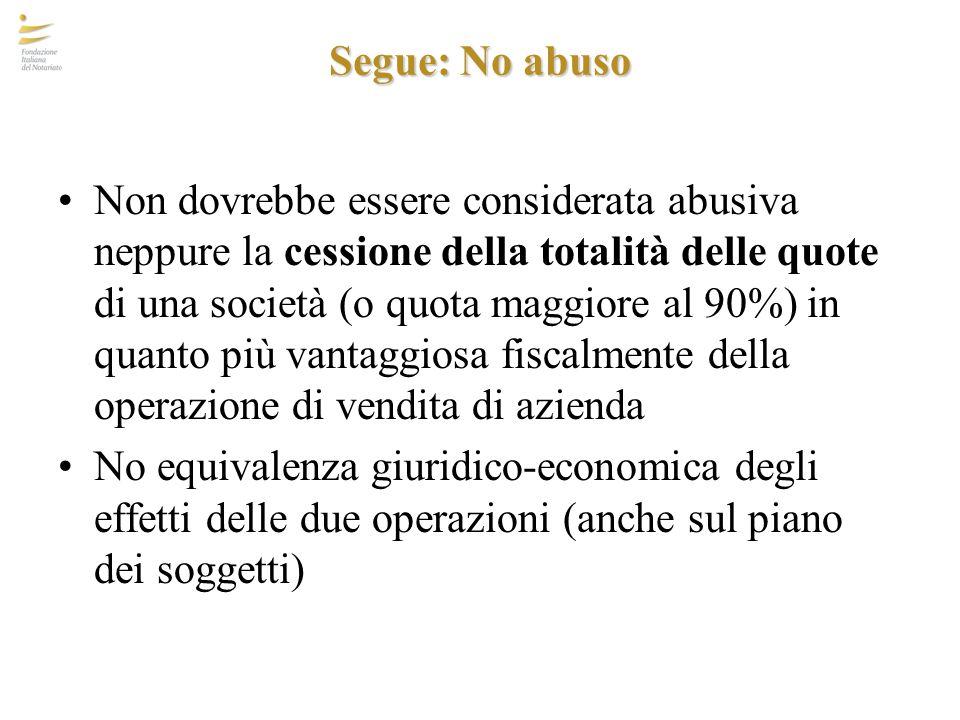 Segue: No abuso