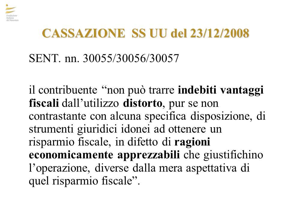 CASSAZIONE SS UU del 23/12/2008 SENT. nn. 30055/30056/30057