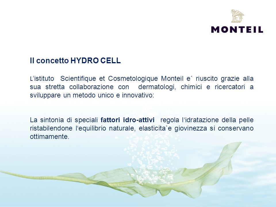 Il concetto HYDRO CELL