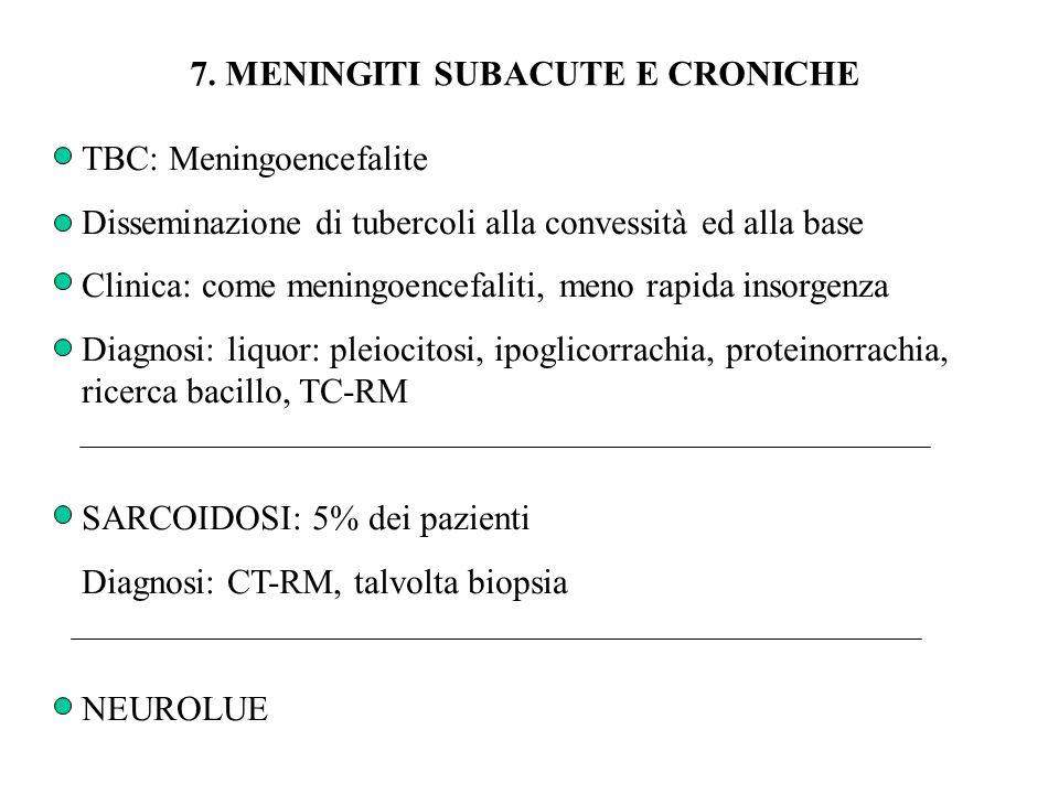 7. MENINGITI SUBACUTE E CRONICHE