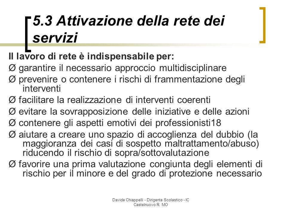 5.3 Attivazione della rete dei servizi