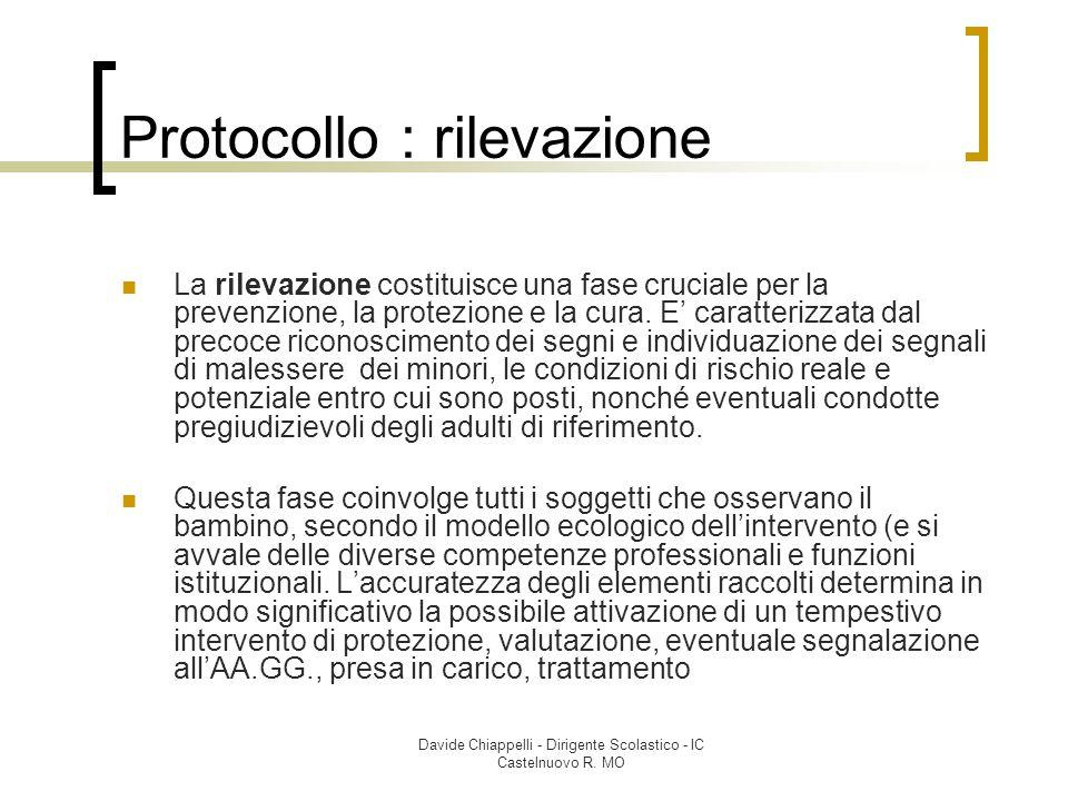 Protocollo : rilevazione