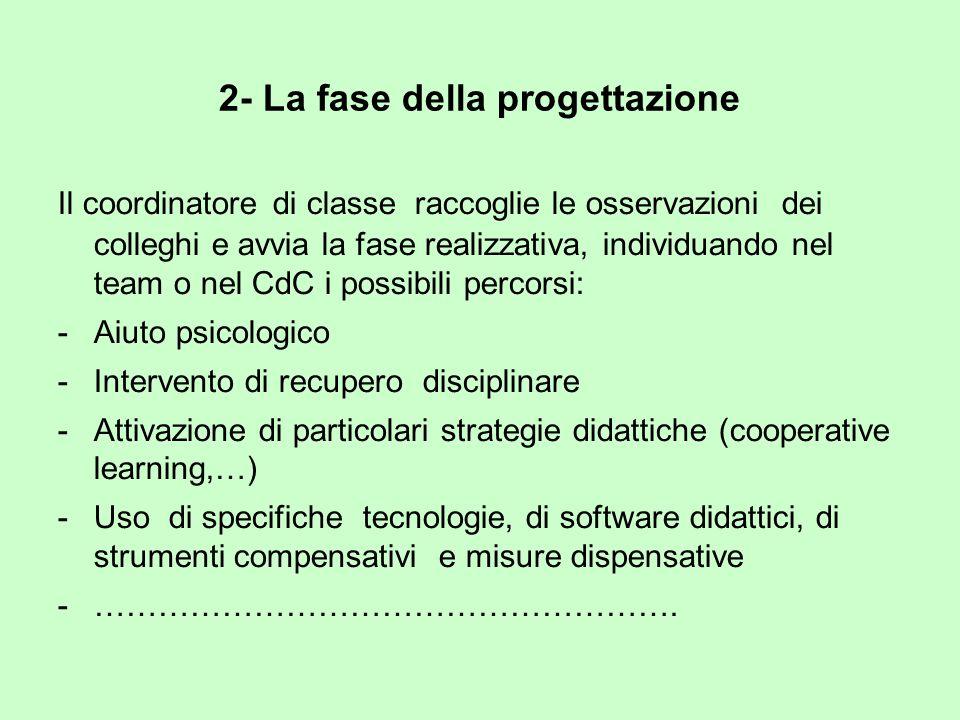 2- La fase della progettazione