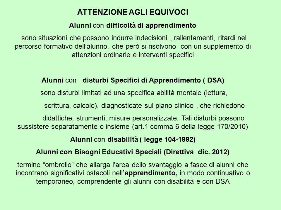 Alunni con Bisogni Educativi Speciali (Direttiva dic. 2012)