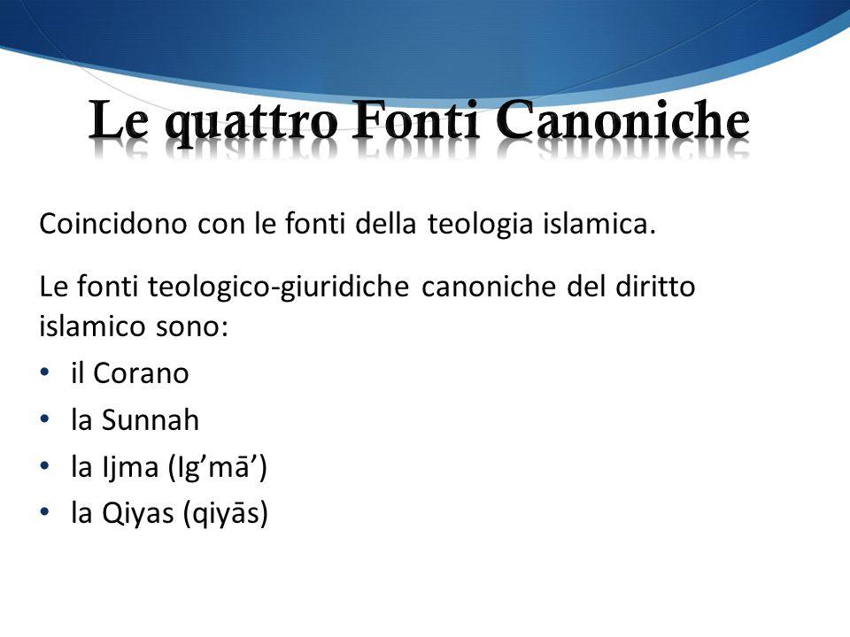 Le quattro Fonti Canoniche