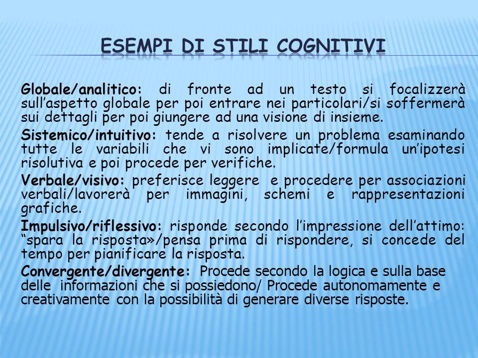 Esempi di stili cognitivi
