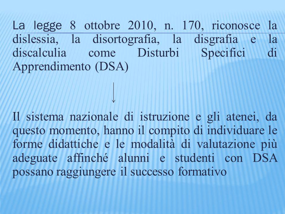 La legge 8 ottobre 2010, n.
